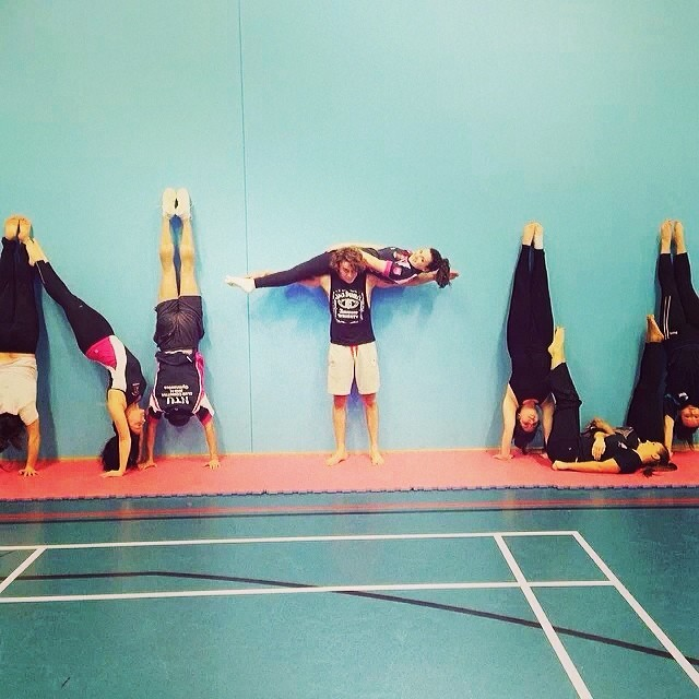 NTU Gymnastics National Handstand Day #NTU #gymnastics #nationalhandstandday