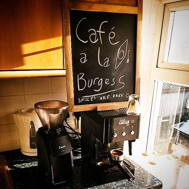 Instagram - New grinder and new sign :) Home coffee set up looking good now :) #