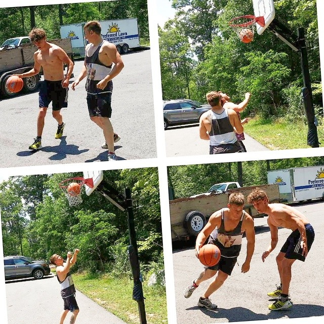 Basketball in the sun between sessions _) #bball #sun #hot #usa