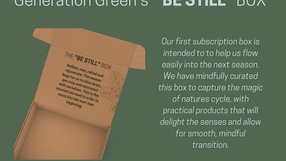 """Subscription Box (Winter) - """"BE STILL"""""""