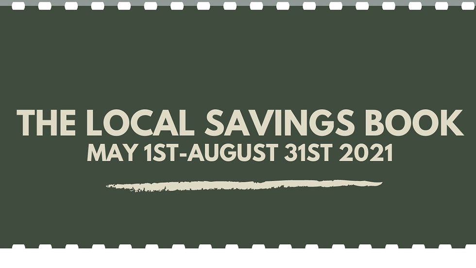 Shop Local Coupon Book -May to August 2021