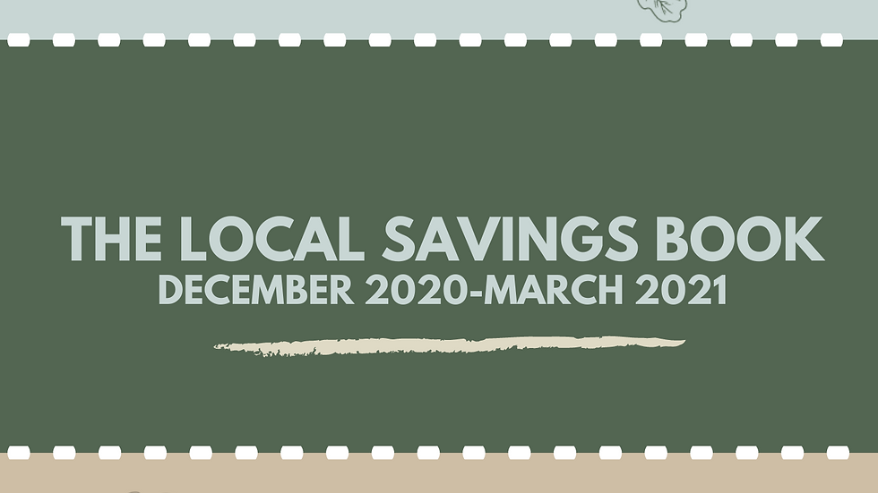 Shop Local Coupon Book -December-March 2020-2021