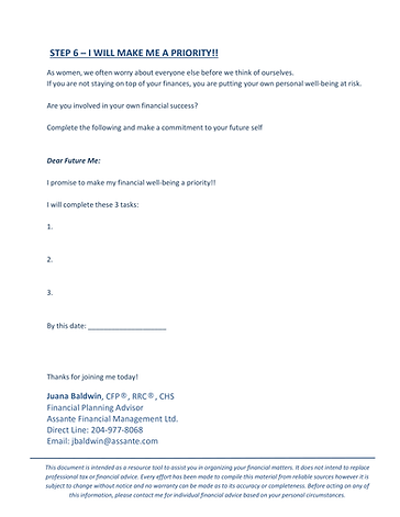 Path to FInancial Well-Being - Handout-6