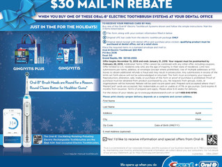 $30 Oral-B Mail-In Rebate