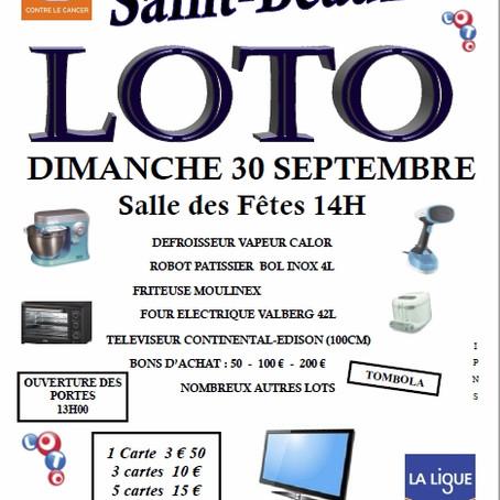LOTO de Saint-Beauzire (30 septembre)