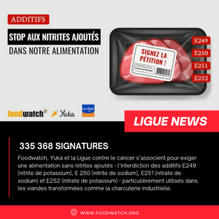 Stop aux nitrites ajoutés