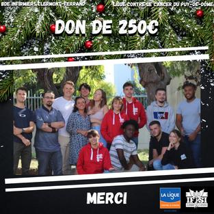 Don de 250€ du BDEI !