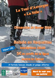 Balade en Raquettes - la tour d'Auvergne