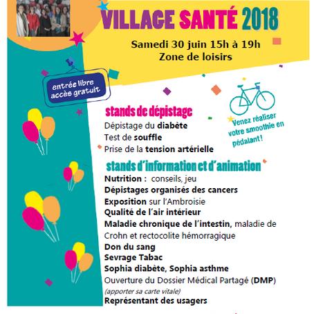 """Village Santé - Course cycliste """"les Copains"""" à Ambert, Samedi 30 Juin"""