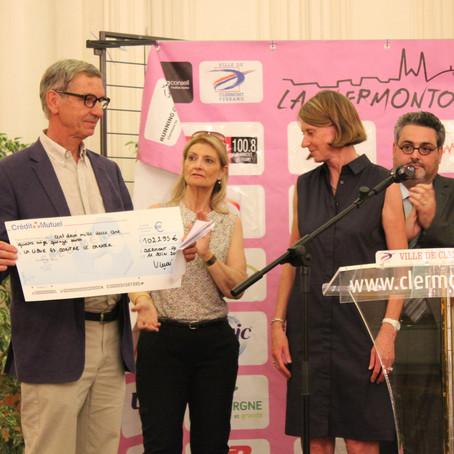 Remise de chèque de la Clermontoise
