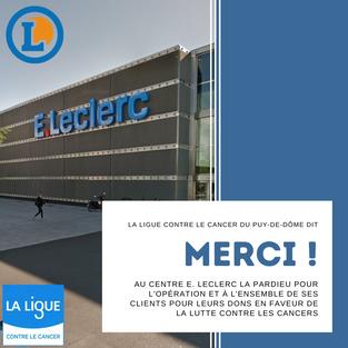 Remerciements E. Leclerc et ses clients