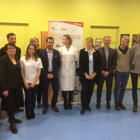 Inauguration du Pôle Sport & Cancer en pédiatrie par la fédération CAMI Sport & Cancer au CH