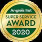 Gold Angie's List 2020 Super Service Award Badge