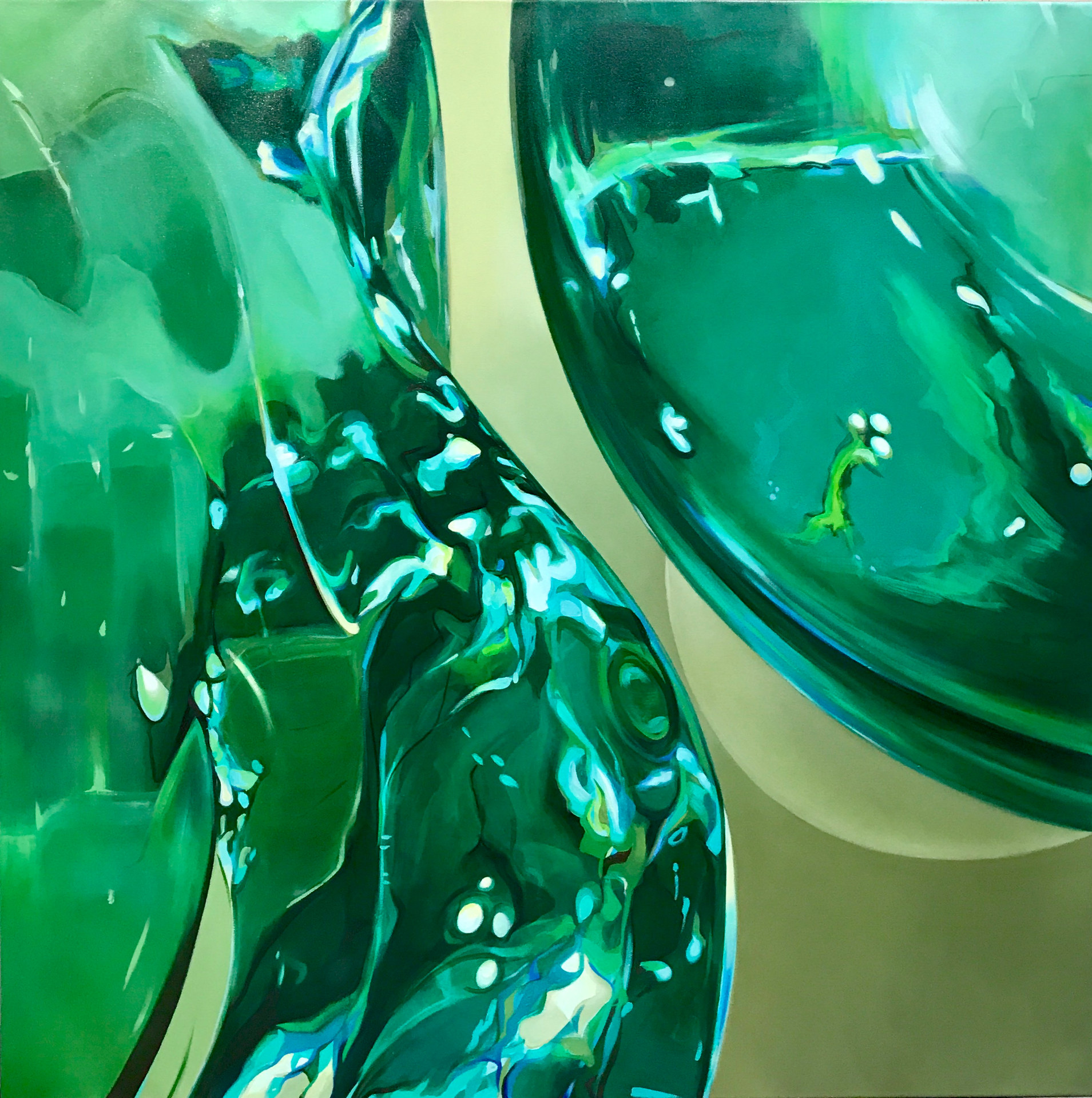 Reflections of the light #7, Emerald