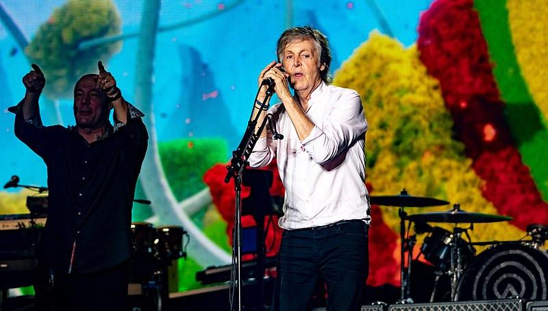 Sir Paul McCartney performing live in October 2018