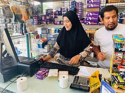 ติดตั้งระบบ POS ให้ร้านมุสลิมการไฟฟ้า จ_