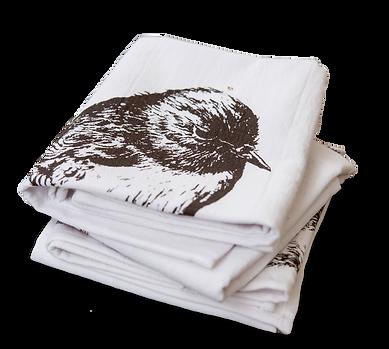 Tea Towels  Wild Grey Fox nikki mcivor art in greytown new zealand