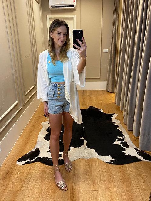 Shorts Jeans Botões