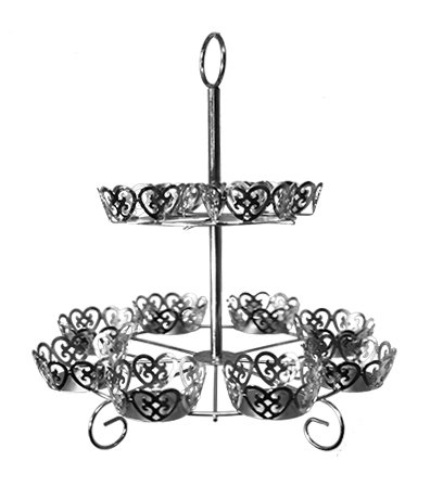 Cup Cake Stand - Filigree, Silver