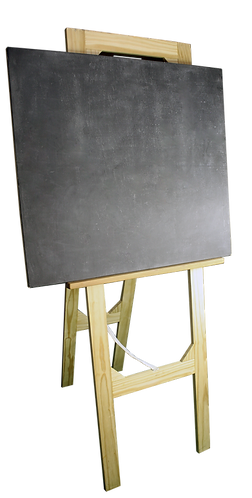 Display Stand Modern (easel) with Chalk Board