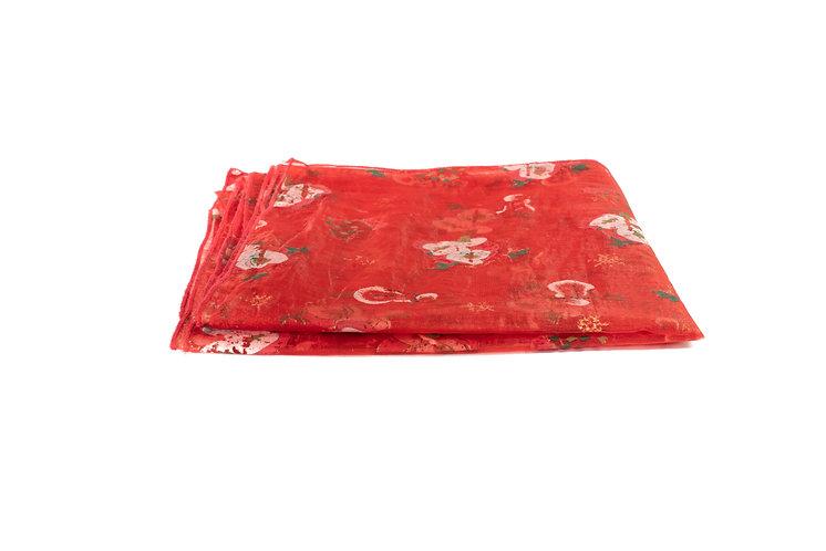 Christmas Overlay Red Organza
