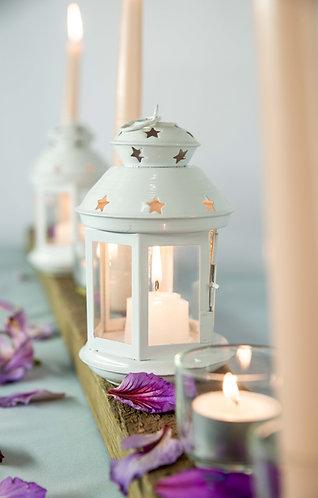 Small Lantern - Moroccan, White