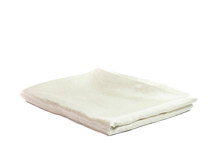 Table Cloth Rectangular Full Length Cream Taffeta