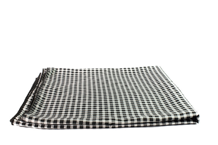 Black and White Overlay Cotton Check