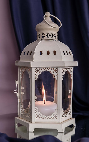 Lantern - Moroccan, Cream