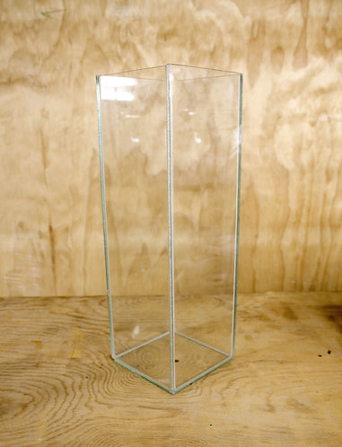 Tall Square Vase - Glass