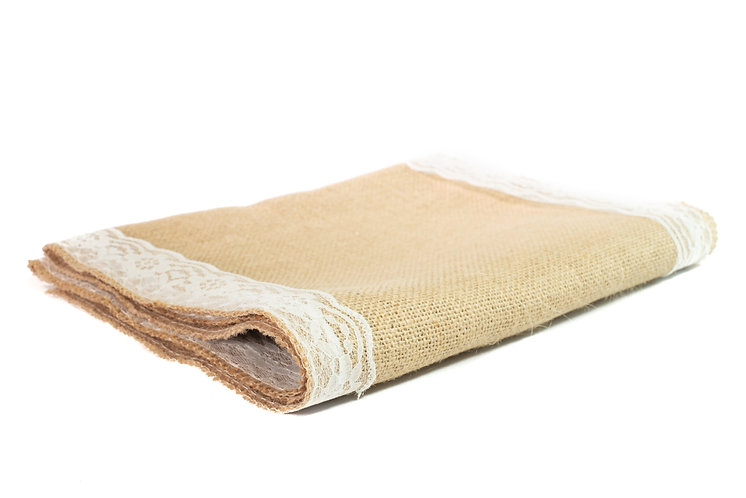 Hessian Lace Runner