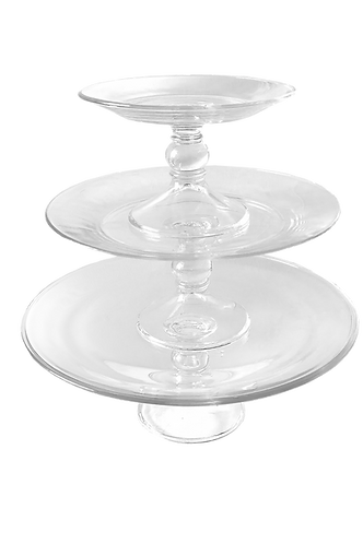 3 Tier Cake Stand - Glass Separate