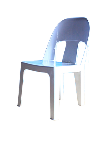 Kiddies Chair - White, Plastic