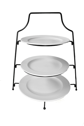3 Tier Cake Stand - with Black Stand