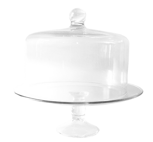 Cake Stand - Glass with Dome