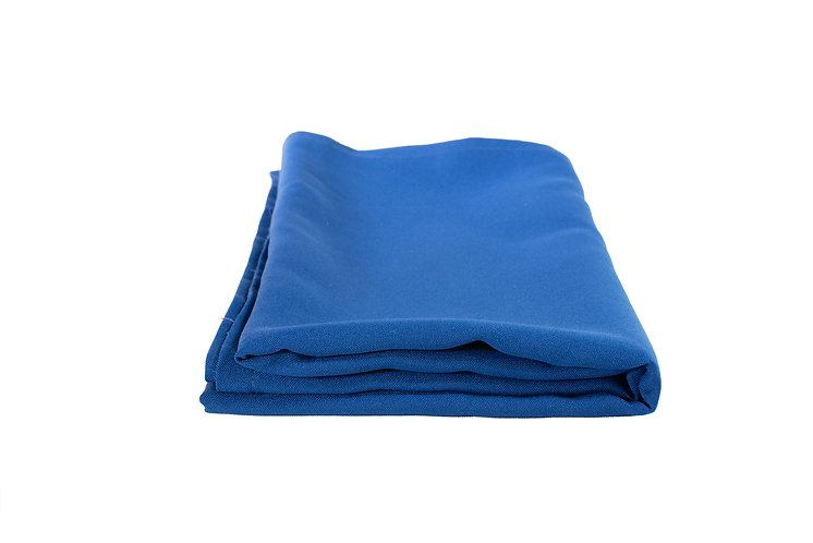 Royal Blue Overlay Poly Cotton