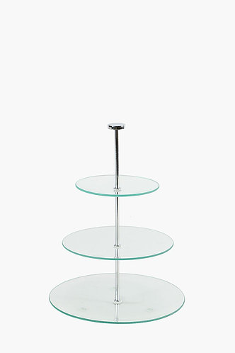 3 Tier Cake Stand - Glass