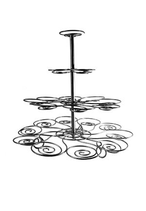 Cup Cake Stand - Wire, Silver