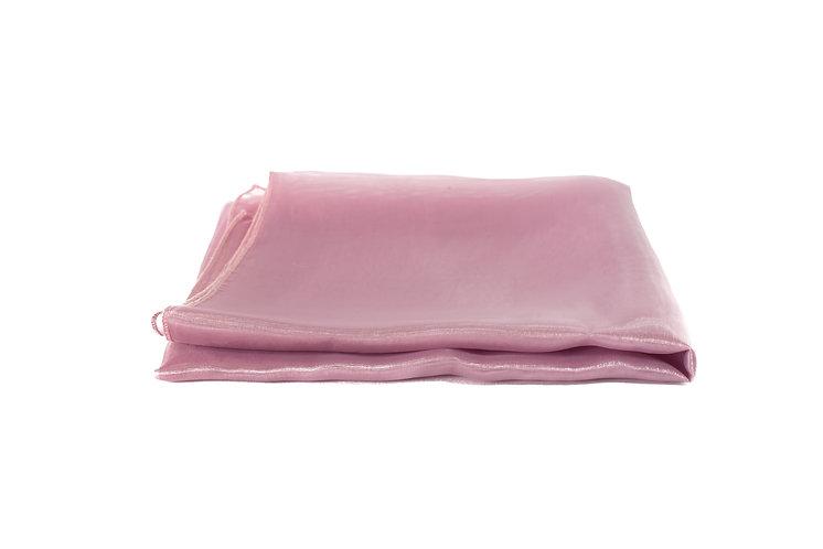 Dusty Pink Overlay Organza