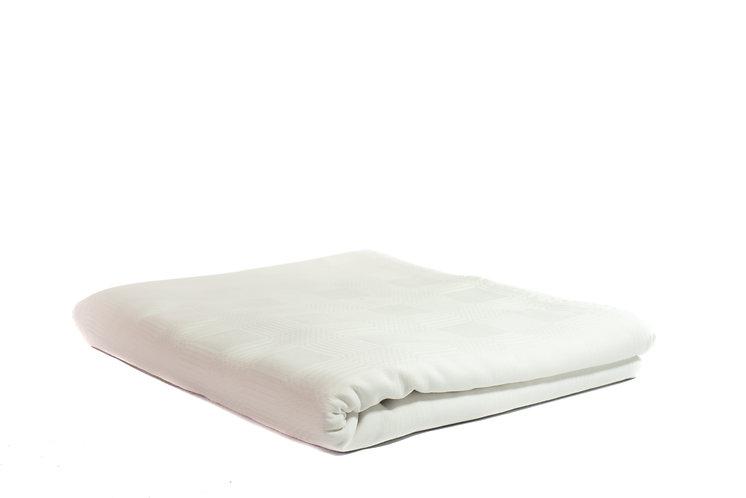 Table Cloth Rectangular Full Length White Damask