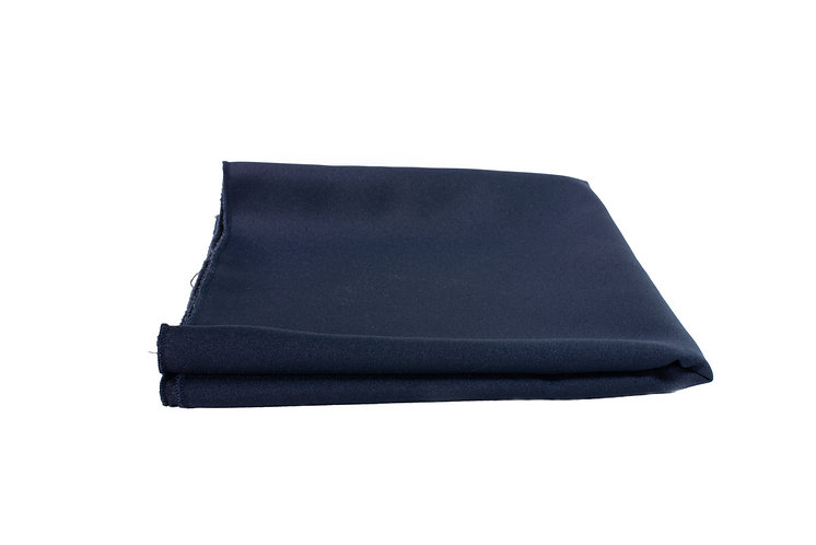 Navy Blue Overlay Poly Cotton
