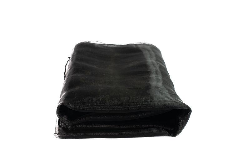 Black Overlay Organza