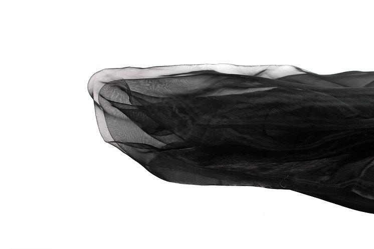 Black Chair Tie Organza
