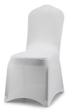 White Conference Chair Cover