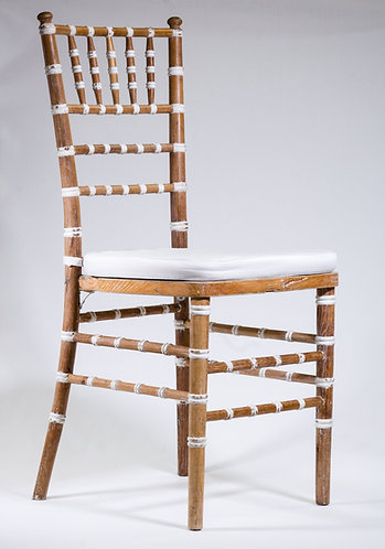 Tiffany Chair - Wooden with White Accents