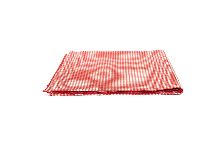 Red and White Check Overlay Cotton