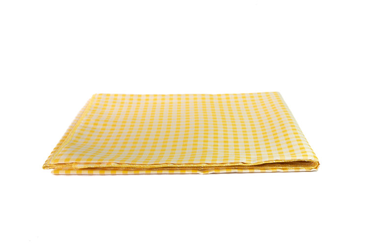 Yellow and White Check Overlay Cotton