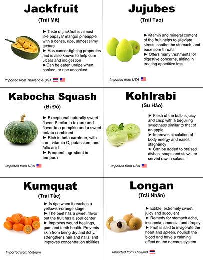 Jackfruit, Jujubes, Kabocha Squash, Kohl