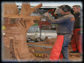 Chainsaw Carvers create works of art.