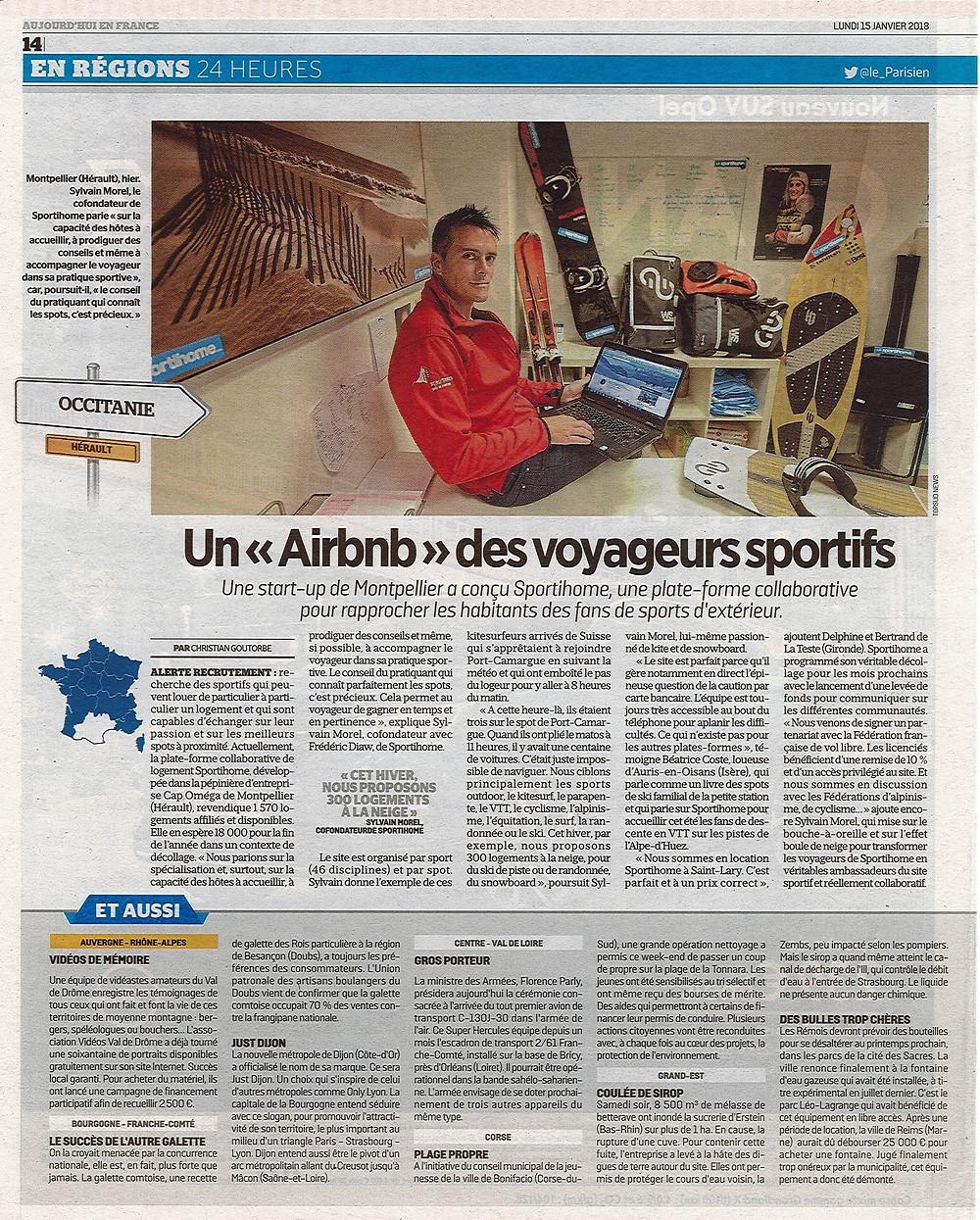 Un Airbnb du sport